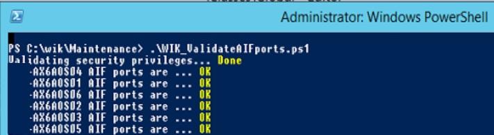 validate AIF ports