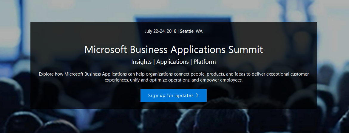 Microsoft Business Applications Summit